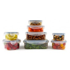 Plastic Food Container Set with Locking Lids